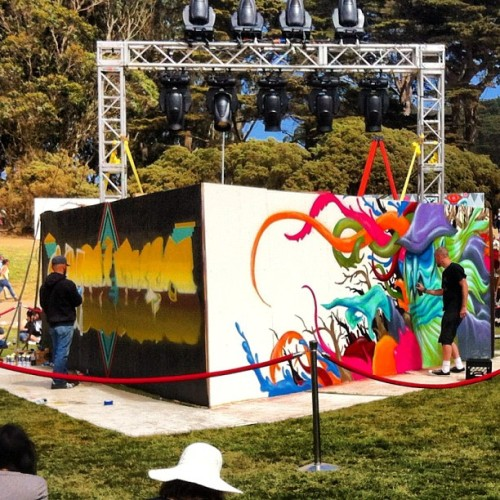 rachelegan:  #graffiti #outsidelands #music (Taken with Instagram at Outside Lands Music Festival)