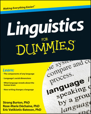 "Linguistics for Dummies. The table of contents seems like basically what you'd expect. I'd like to know what these ""Top 10 Jobs for Linguists"" are though.  Another recent accessible book about linguistics is The Five-Minute Linguist. For teaching yourself linguistics online, try #protolinguist."