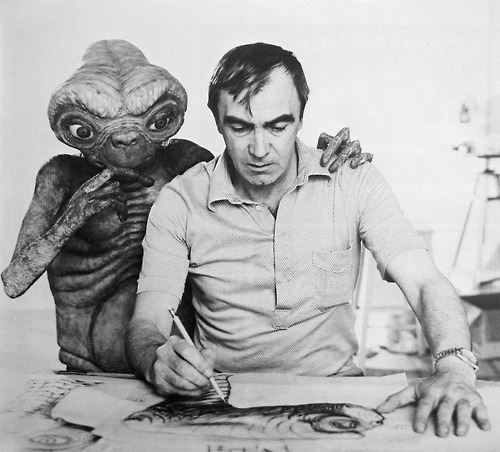 Italian special effects genius Carlo Rambaldi, designer and mastermind of E.T. died yesterday at the age of 86. Spielberg has often said that when the children interacted with Rambaldi's creation on set they truly believed E.T. was real and that was what resulted in such stunning performances from them.