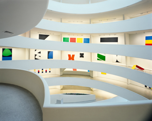 Ellsworth Kelly retrospective at the Guggenheim, 1996