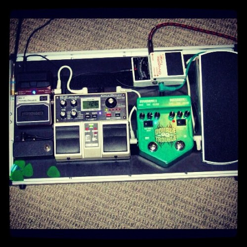 It was only a matter of time before I posted this #pedalboard #gear #geartalk #guitar #worship (Taken with Instagram)