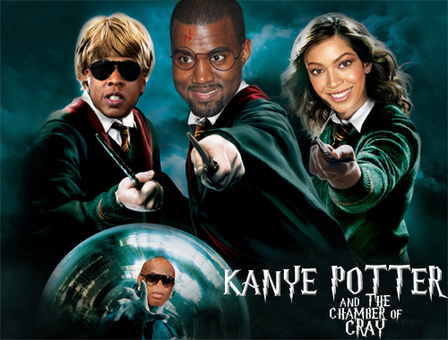 ladybeyoncewest:   Kanye Potter and the Chamber of Cray   !!!!!!!!!!!!