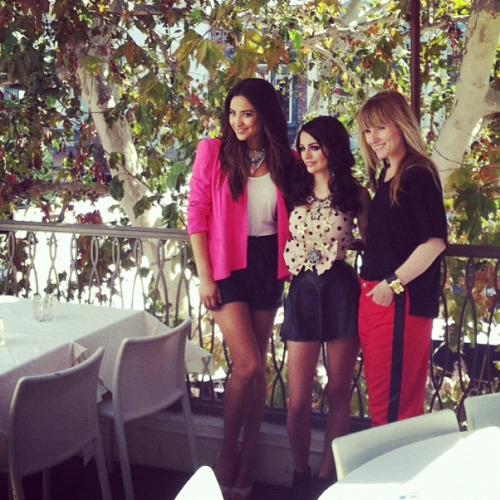 Teen Vogue's Amy Astley with Shay Mitchell and Cher Lloyd