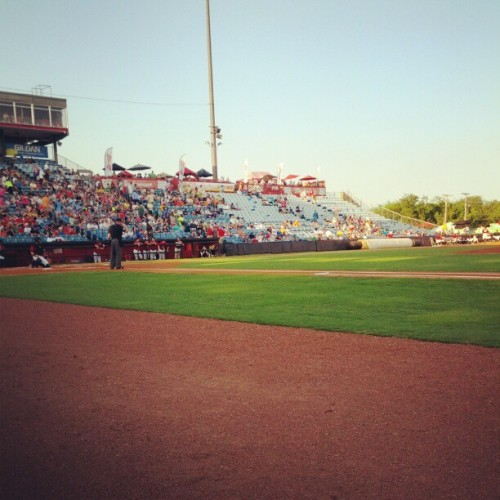 Great seats tonight (Taken with Instagram at Herschel Greer Stadium)