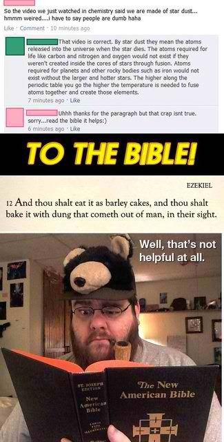 To the bible!   source