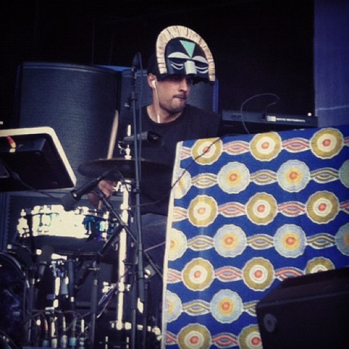 under-radar-mag:  SBTRKT at Øya (Taken with Instagram)  HAHS LEGIT DRUMMER!!;p