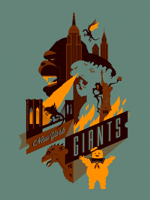 New York Giants by Tom Whalen