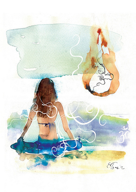 broken-crayon:  yoga by elenatsaregradskaya on Flickr.