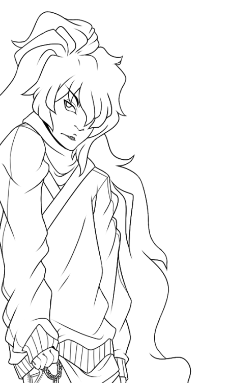 Lines are done. This doesn't even look anything like my OC Nemui. Why did I screw up my own OC?! ;m;