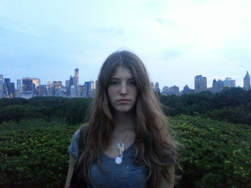 Brittany on the Met roof. Museum night 2.