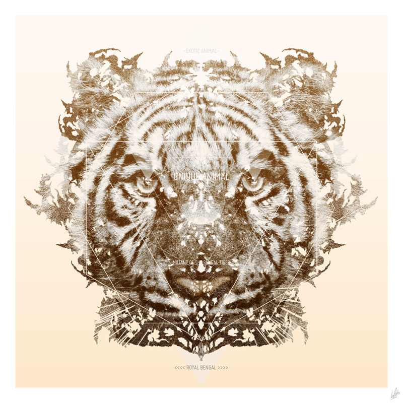 "I just posted ""The White Tiger (Gold Version)"" Luis Pinto (El Pinto)  (Guatemala) via Curioos"