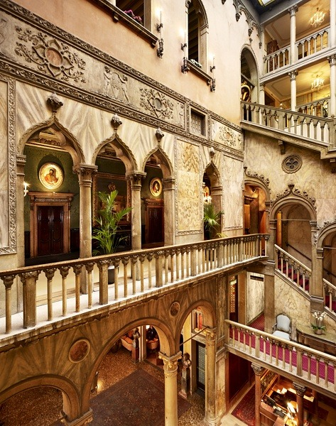 Stairways, Hotel Danieli, Venice, Italy photo via mary