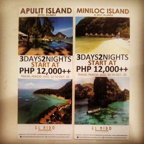 3days2nights at Apulit Island and Miniloc Island starts at Php12,000++ #travel #tourism #palawan #resort #beach #philippines  (Taken with Instagram)
