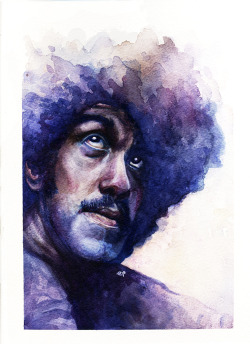 Phil Lynott & Daniel Johnston - watercolour project, 2011