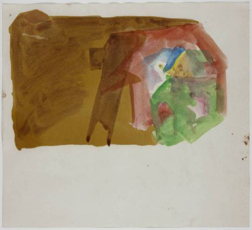 Joseph Beuys Crystal Measurement, 1954 watercolor on paper
