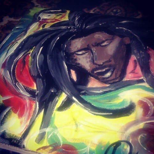 When I can't sleep, I paint.. #painting #bobmarley #reggae #art #colors #jamaica #danmark #love #kush #webstagram #bestoftheday #picoftheday #ig #instanight #instagram #instamood #instalove #instadaily #instaphoto #dailykurds  (Taken with Instagram)