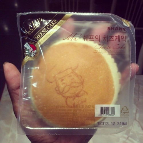 I found a different cheese cake bread. It has a face ^__^ (Taken with Instagram)