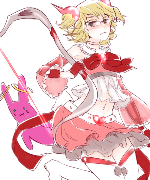 goldfishu:  barnaby as a mahou shoujo! Inspired by my lovelies aduah and stalktan  mahou shojo Barnaby is popular XD