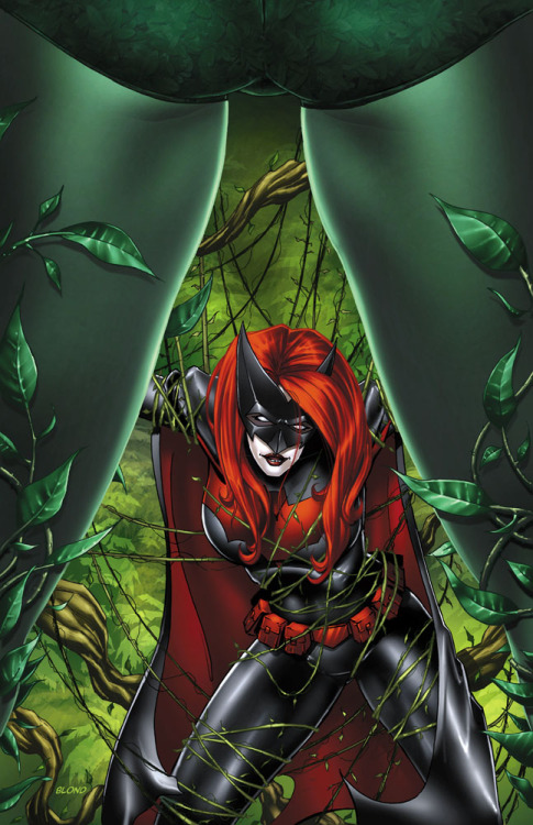 Poison Ivy & Batwoman // artwork by Blondthecolorist (2012)
