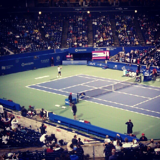 Djokovic started again at 10:30 by @anbywarhal at instagram