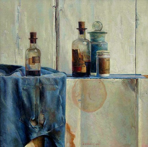 Ben Snijders Still Life with Bottles 1943