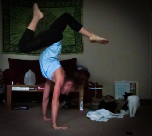 Handstands are feeling good. feeling improvement :']