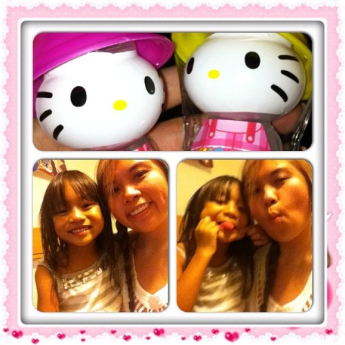 With little miss Aiden. =) #hellokitty #hk #candy #sweets #pink #cute #hugs #preciousmoments #instacollage (Taken with Instagram)