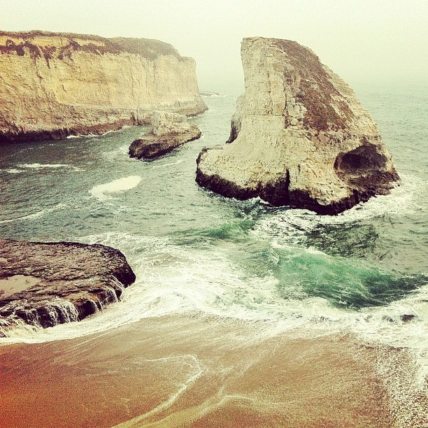 Shark Fin Cove #seascape #snapseed #photography #iphone #california #ocean (Taken with Instagram)