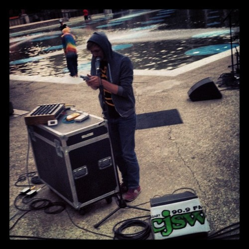 Out of control gameboy tunes at a @cjsw event in Olympic plaza. #yyc #yycmusic  (Taken with Instagram)