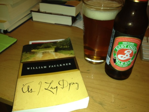 My Book and Beer submission - As I Lay Drinking