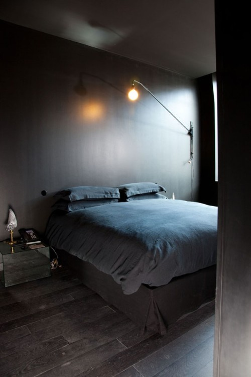 divisionsofdesign:  (via Clean bedroom interior with bulb light | Murray Mitchell)