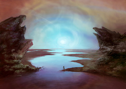 A fisherman of Ares Vallis by Eleni Tsami - Fantasy art galleries at Epilogue.net - Fantasy and Sci-fi at their best on We Heart It. http://weheartit.com/entry/34733206