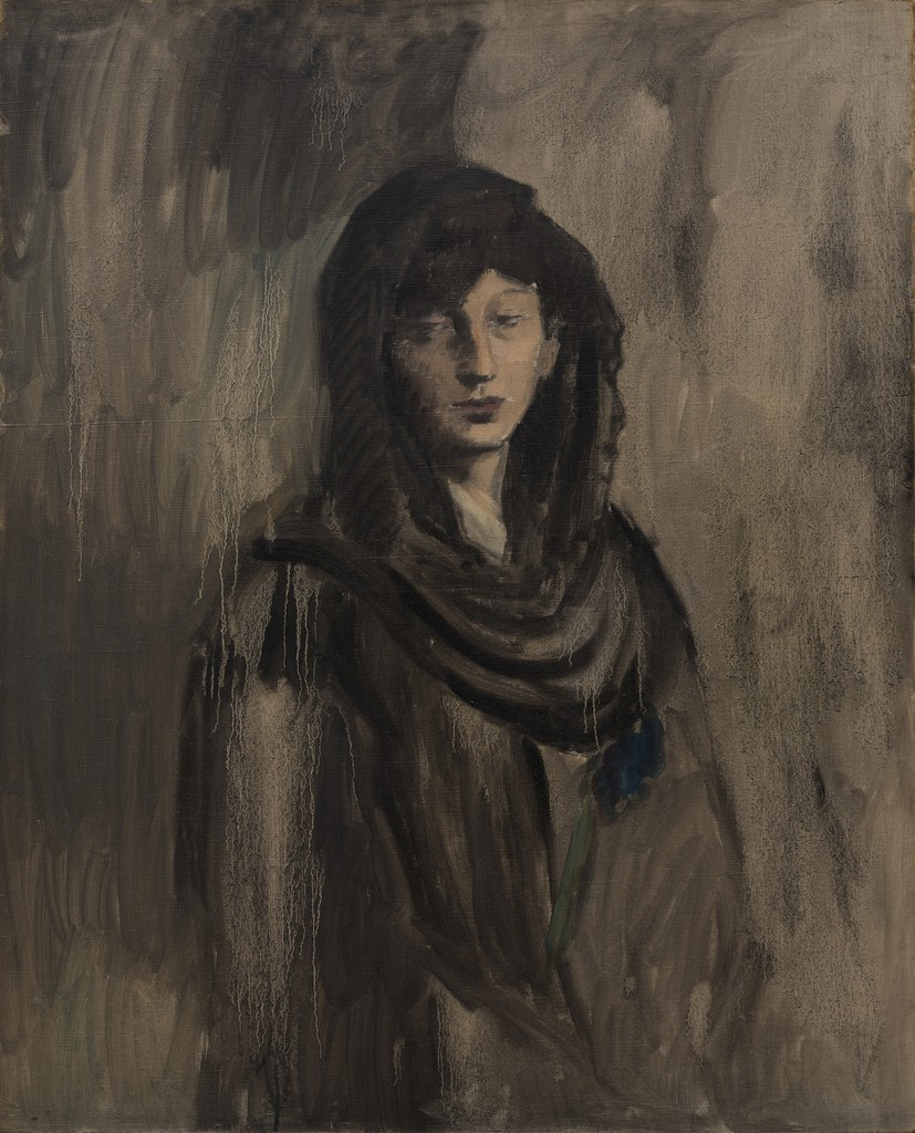 Pablo Picasso - Fernande with a Black Mantilla (Fernande à la mantille noire), 1905–06. Oil on canvas