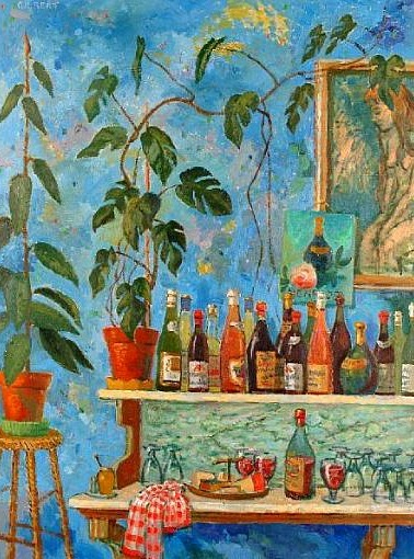 Dennis Gilbert Still Life with Bottles 20th century