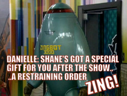 addicted2bigbrother:  Danielle isn't very happy with Zingbot..
