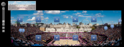 Check out this three billion pixel image of the Olympic volleyball. Photographer David Bergman created the image by shooting over 200 individual photos over a 21 minute period, before stitching them together to create the monster 98,101 x 31,747 pixel image. The full image can be seen here, where you can zoom in and around the photo.