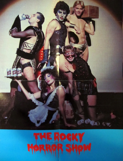 poster from the 1st North American Tour of The Rocky Horror Show (aka The 'Original' Rocky Horror Show). Schlitz Beer was the main sponsor for the tour. *This is a photograph my poster, that i was lucky enough to obtain.