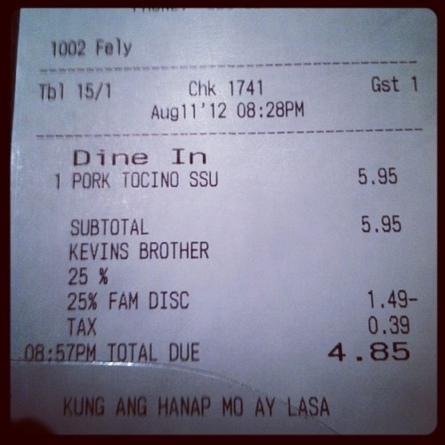 It was well worth it lol (Taken with Instagram at Salo-Salo Grill)