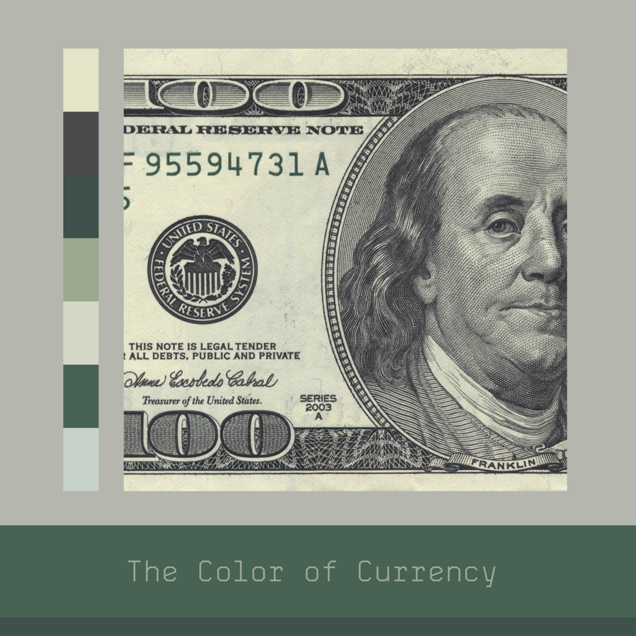 COLOR STUDY I've been using the USD as an axiom for my color studies to help guide my creative direction on a project that I'm working on called Home of the Brave.  Sometimes the inspiration you need is just inside your pocket.