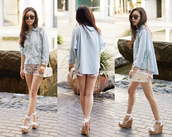 Hi-Lo Denim Shirt (by Elsa L)