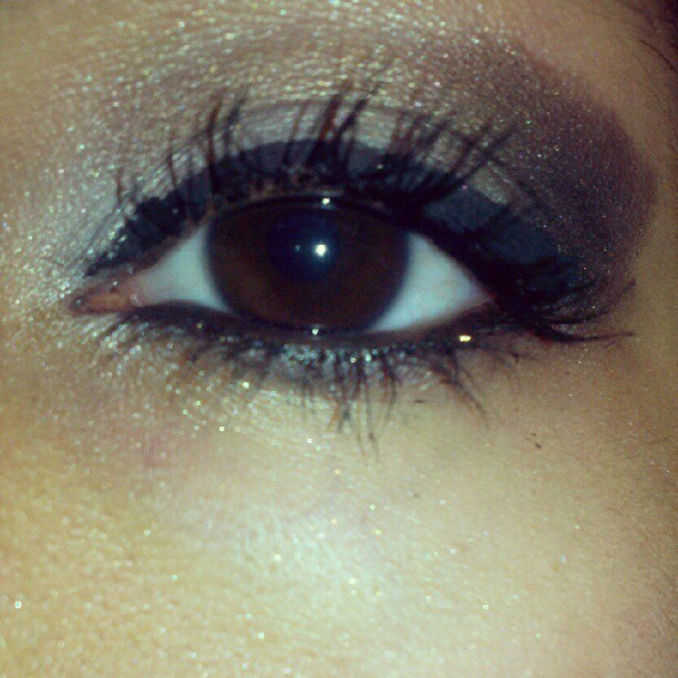 I was sooo effin bored!! So I did my make up. This is my left eye :) (Taken with Instagram)