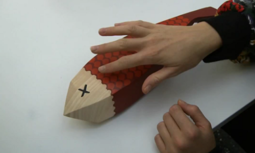 "8bitfuture:  Sensory feedback technology could make a touchscreen feel like anything. Disney Research (yes that's a real thing!) have shown off their new technology which can make any surface capable of conducting electricity feel like various other textures. The 'Revel' system - or Reverse Electrovibration - sends a weak current through the users skin, creating an ""oscillating electrostatic field"" around it.  When the electrically-charged user comes into contact with any object connected to the same ground as the Revel signal, the electrical potential difference between the finger and the electrode generates an electrostatic attraction force that creates a sensation of friction between finger and object. By varying the signal properties such as frequency or amplitude, the system can manipulate different tactile experiences.  While the system relies on electrical conductivity to work, almost any other surface could in theory be converted to do so, using a layer of conductive paint with a thin layer of insulating varnish on top."