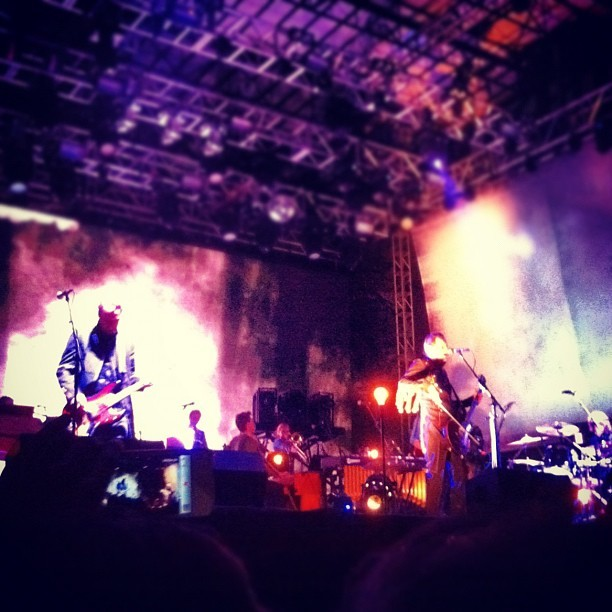 Sigur ros at outside lands. They lull you to sleep and Rock you back awake.  (Taken with Instagram at Outside Lands Music Festival)
