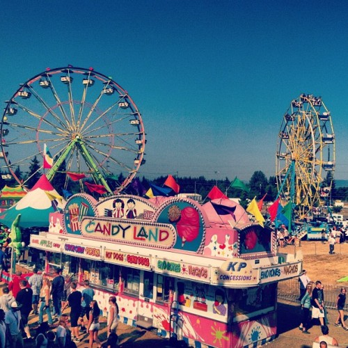Scene from atop the Mirror House.  (Taken with Instagram at Clark County Fairgrounds)