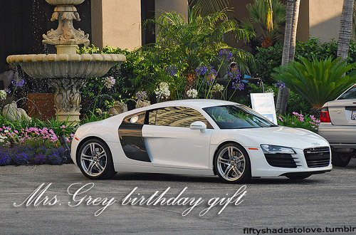 just what she wanted, white r8