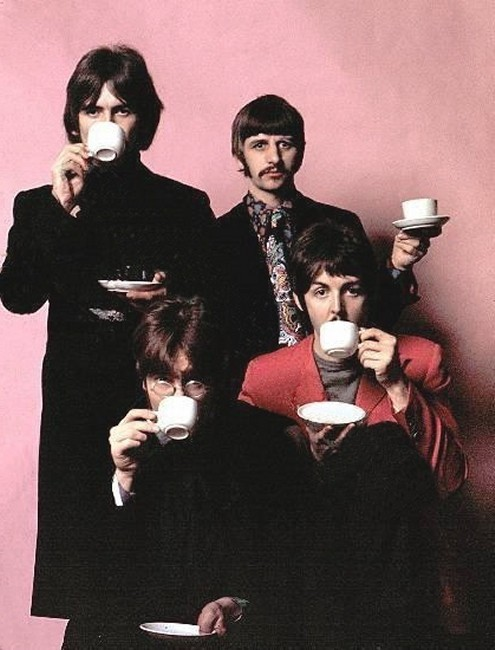 theswinginsixties:  Tea with The Beatles.
