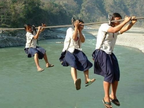 rhea137:  A regular school day in Nepal