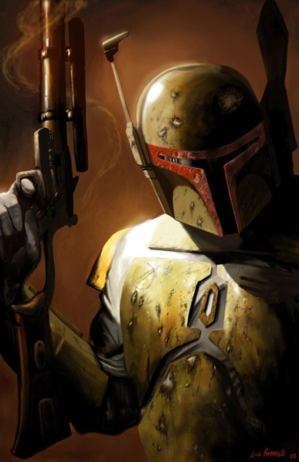 Artwork by Livio Ramondelli. Star Wars, Boba Fett.