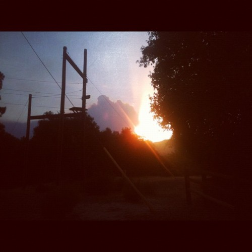 jonlovesyou:  Sunset from COPE through the smoke of the Chihuahua fire. (Taken with Instagram at Lost Valley Scout Reservation)