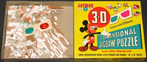 3- Dimensional Jigsaw Puzzle: Mickey Mouse - High Diver (C.1958)